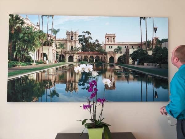 Photo Breathtaking San Diego HD Mural Photograph -Lily Pond San Diego - $695 (Vista)