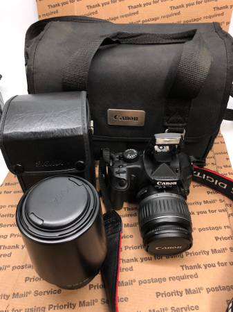 Photo Canon Digital Rebel XTi 400D Wlenses and storage bag - $250 (Escondido)