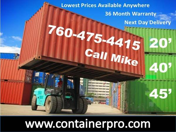 Photo Cargo Container Sale Storage Refers and Shipping Containers (San Diego County)
