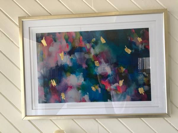 Photo Colorful contemporary picture with brushed gold frame - $65 (Solana Beach)
