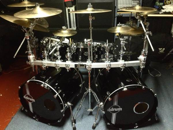 Photo DDRUM Dominion Maple Piano Black 9PC Double Bass Drums Shell Pack - $1,250 (Poway)