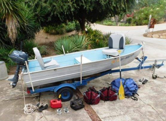 Photo Delhi 12 ft Boat, Motor,  Trailer - $2,000 (Poway)