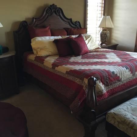 Drexel Heritage Tuscan King Bed 6500 Rancho Santa Fe Furniture For Sale San Diego Ca Shoppok