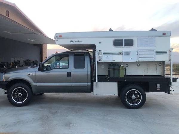 Photo F350 diesel 4x4 with pop up Cer - $22,500 (borrego Springs)