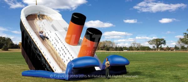 Photo Giant Titanic Adventure 33 Dual Inflatable Slide Parties Used - $1,200 (Vista)