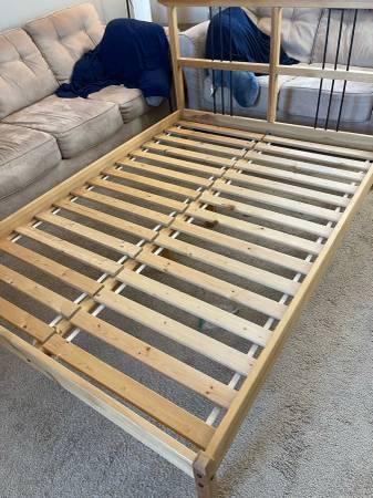 Photo Ikea Full Size Wooden Bed Frame - $100 (Oceanside)