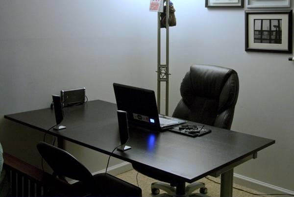 Photo Ikea Galant Black Rectangular Desk wAdjustable Height Legs Options - $150 (Sorrento Valley)