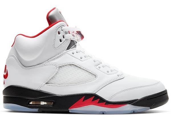 Photo Jordan 5 Retro Fire Red Silver Tongue (2020) - $220 (San Diego)