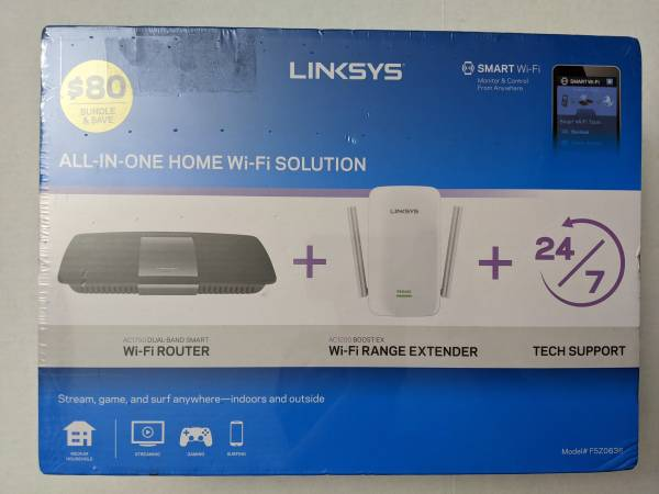 Photo Linksys WiFi AC1750 Router  AC1200 Range Extender - 2 Items - $45 (Rancho Bernardo  Mira Mesa  Poway)
