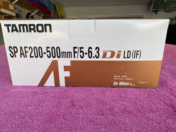 Photo Lowered Price to sell Tamron SPAF 200-500mm (Nikon) - $400 (Solana Beach Ca)