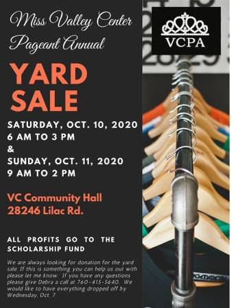 Photo Miss Valley Center Pageant Yard Sale (Valley Center)