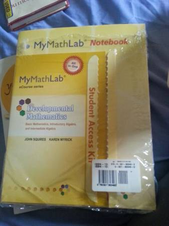 Photo Mymathlab notebook college book Textbook (Chula vista)