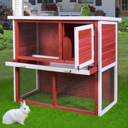 Photo NEW Red Wooden Chicken Coop Hen House 36quot Rabbit Wood Hutch Cage - $125