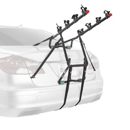 Photo New Sports Deluxe 2, 3, 4 Bicycle Trunk Mounted Bike Rack Carrier (Assembled  installs in seconds)