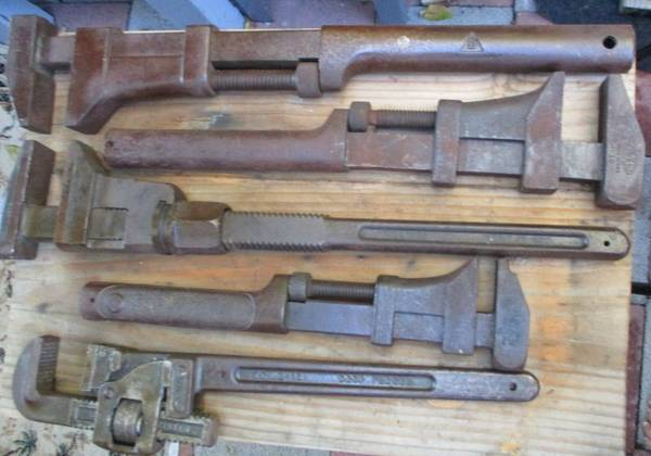 Photo Nine) HEAVY DUTY WRENCHES ANTIQUES (LARGE) in good condition - $125 (Santee ca)