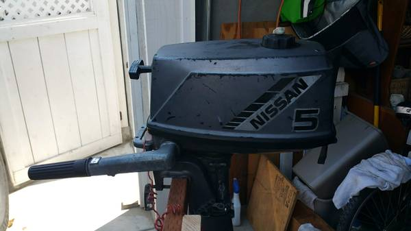 Photo Nissan 5 HP 2-stroke Outboard Motor - $350 (Pacific Beach)