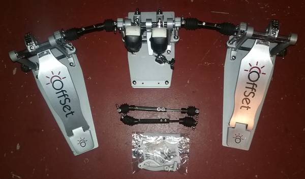 Photo OffSet Eclipse Double Bass Drum Pedals w extras - $450 (Poway)