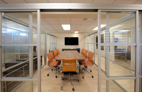 Photo Office Downsizing - Custom Aluminum  Glass Conference Room Partition - $7,500 (Solana Beach)