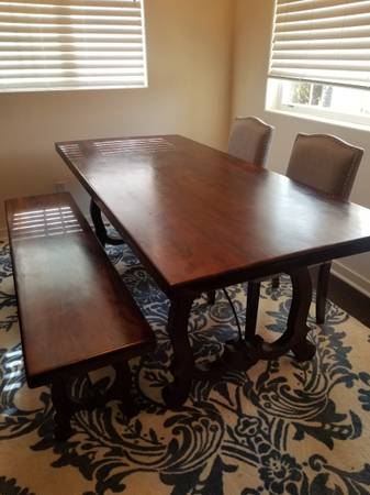 Photo Pier 1 imports Dining Table with 2 Chairs - $195 (Carlsbad)