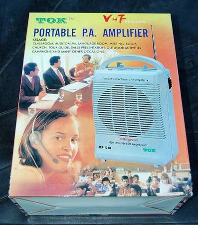 Photo Portable P. A. Amplifier New in Unopened Box - $34 (ESCONDIDO)