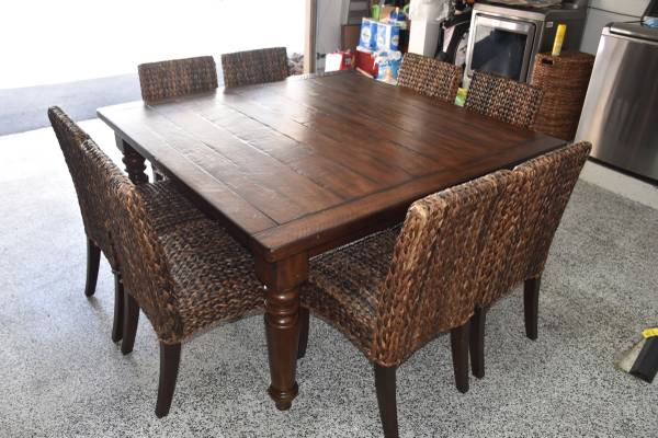 Photo Pottery Barn Dining Table  Chairs - $1300 (San Diego)