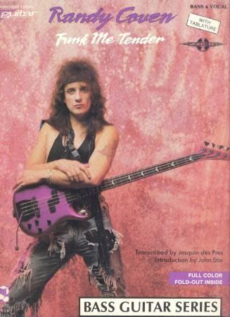 Photo Randy Coven - Funk Me Tender Bass Tab book Tablature NEW - $20 (San Diego)