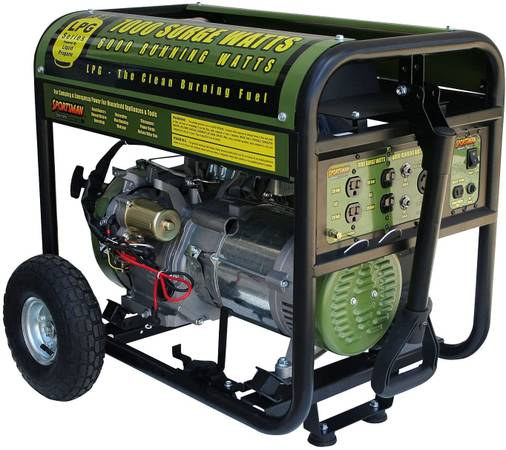 Photo SPORTSMAN SERIES GEN7000LP Propane 7000 Watt Generator - $850 (Escondido)