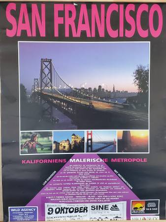 Photo San Francisco poster in German language from 199039s - $5 (Clairemont)