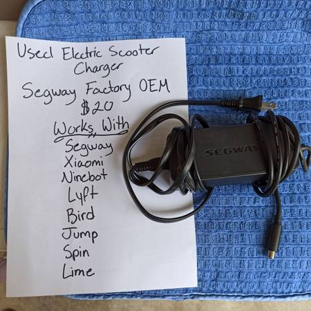 Photo Segway Electric Scooter Charger (used) - $20 (North Park)