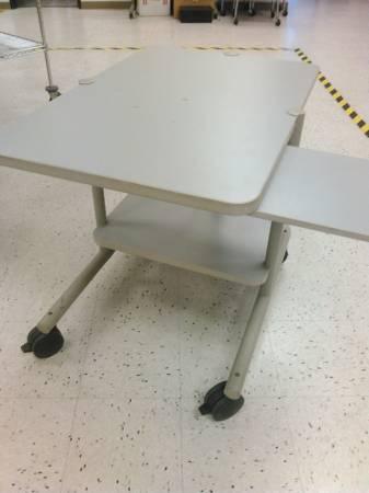 Photo Sturdy Rolling Computer Cart DeskTable - $80 (Rancho Bernardo)