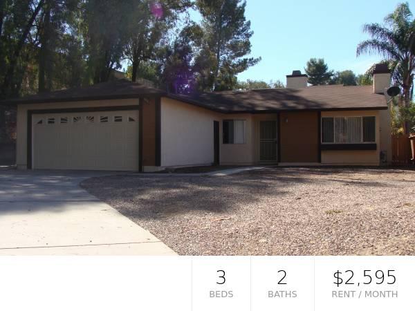 Photo Terrific Single Story 3Br2Ba Fletcher Hills Home (El Cajon)
