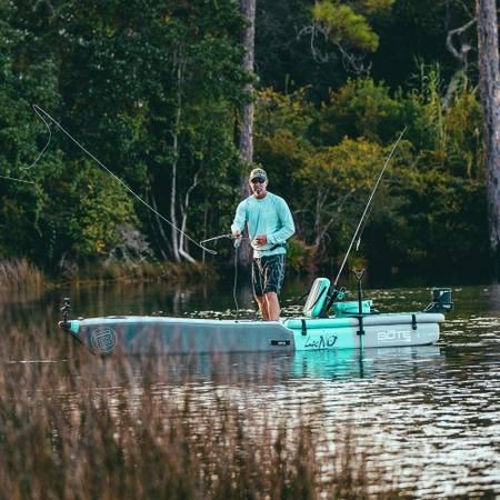 Photo USED twice only Bote Lono Aero Inflatable fishing kayak - $1,400 (San Diego)