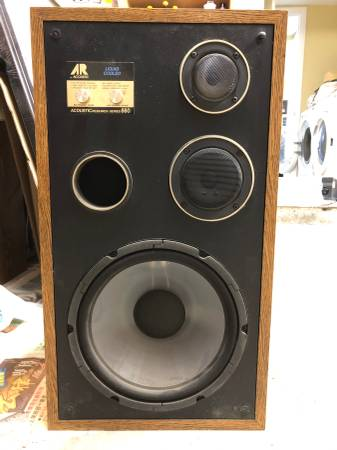 Photo Vintage AR Acoustic Research Series 660 Liquid Cooled 3-Way Speakers - $110 (Mira Mesa)