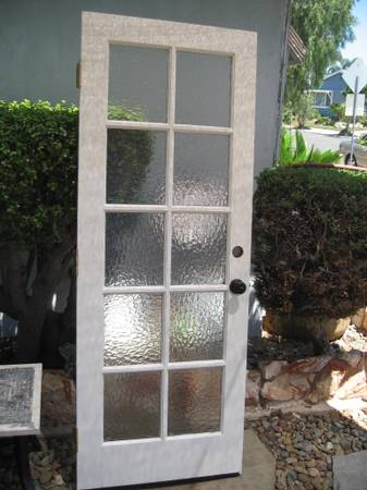 Photo Vintage Exterior 10 Single Pane Obscure Glass French Door - $245 (sdbay-ho)