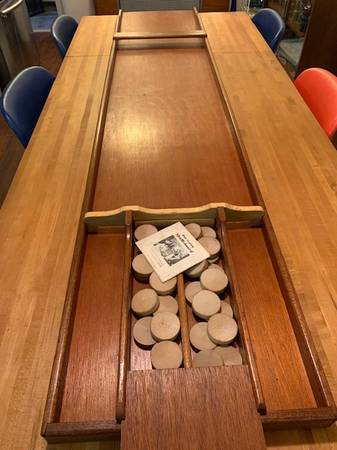 Photo Vintage Shuffleboard Table, Made in Holland, Tabletop Version - $145 (North Park (Credit Cards, Del Avail)