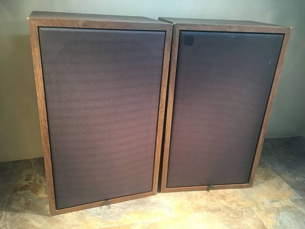 Photo Vintage Wood Floor Speakers  Needs a Woofer Selling for Cheap  just - $49 (Greg the Stereo Guy)