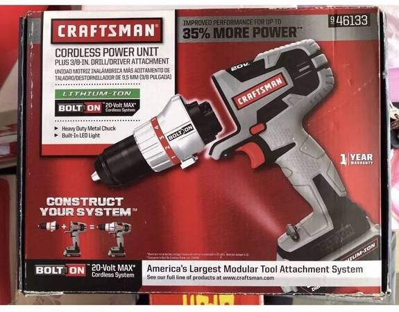 Photo new, 20V craftsman bolton drill driver lithium ion rechargeable matrix - $200 (pb pacific beach)