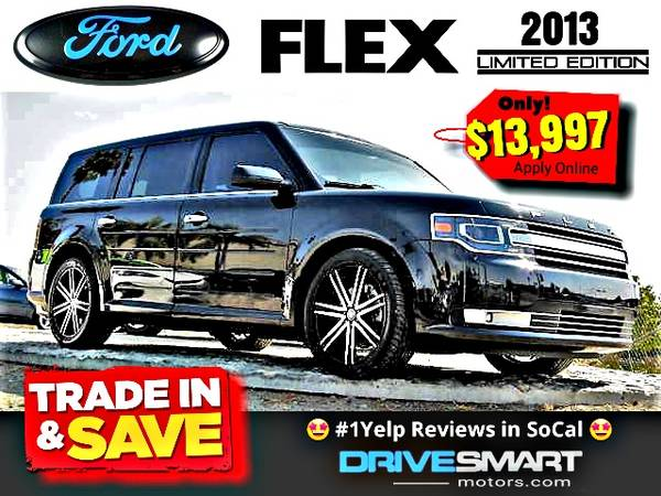 Photo quotAPPLY ONLINEquot  SUPER POPULAR 2013 FORD FLEX quotLIMITEDquot BAD CREDIT OK - $13,997 (1 YELP DEALER LOWEST PRICES BEST FINANCING quotApply Onlinequot)