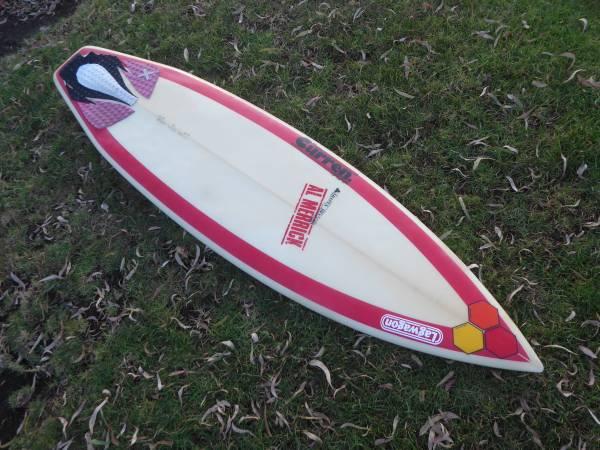 Photo retro 6392quot Channel Islands Al Merrick Red Beauty surfboard $300 OBO - $300 (ENCINITAS)