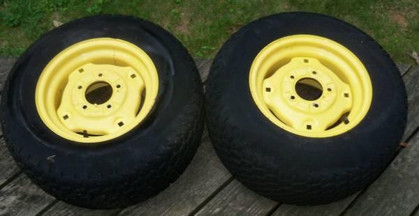 Photo 2 John Deere Rear Tires Rims AWS 425 445 455 ALL WHEEL STEER - $200 (Huron, OH)