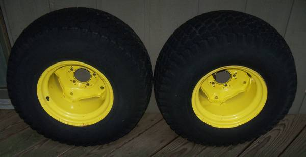 Photo 420 430 John Deere Rear Goodyear Tires Rims 26x12x12 Cub Cadet - $300 (Huron, OH)