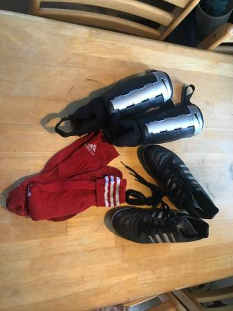 Photo Adult Men39s Adidas soccer cleats, socks and Nike shin guards (Madison Heights)