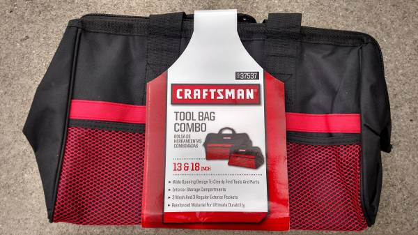 Photo Craftsman Tool Bag Combo 13  18 inch Reinforced Material Durable NEW - $20 (Marblehead)
