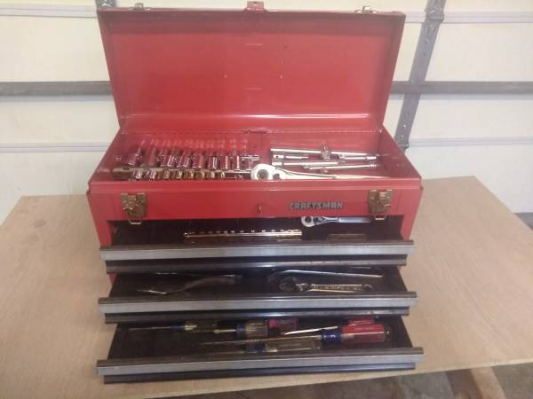 Photo Craftsman Tool box with Craftsman Tools - $200 (Norwalk)