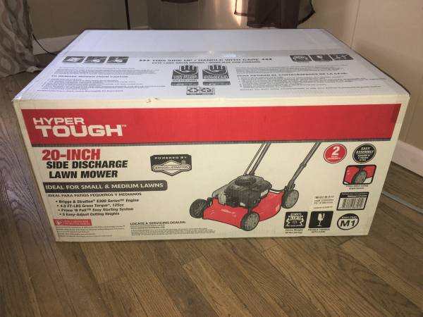 Photo Hyper Tough 20quot Push lawn Mower Briggs and Stratton engine - $110 (Tiffin)