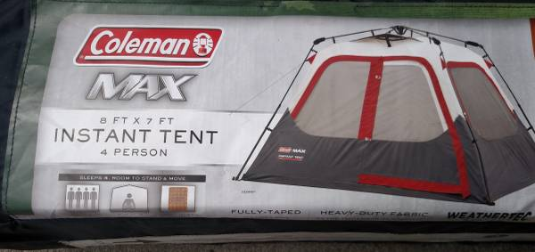 Photo NEW Coleman MAX Instant Tent 1 minute Setup Take Down Weathertec DRY - $100 (Marblehead)
