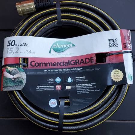 Photo NEW Commercial Contractor Grade HOSE 50 Ft 58 LEAD FREE Drinking SAFE - $20 (Lakeside Marblehead)