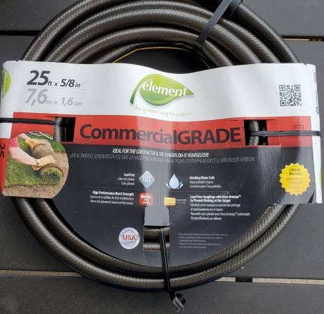 Photo NEW Commercial Grade HOSE 25 FT 58 in USA Lead Free Drinking Water - $12 (Lakeside Marblehead)