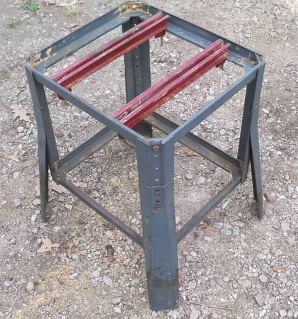 Photo Vintage Craftsman 113 110 115 10quot Table Saw Tool Stand Base Adjustable - $50 (Huron, OH)