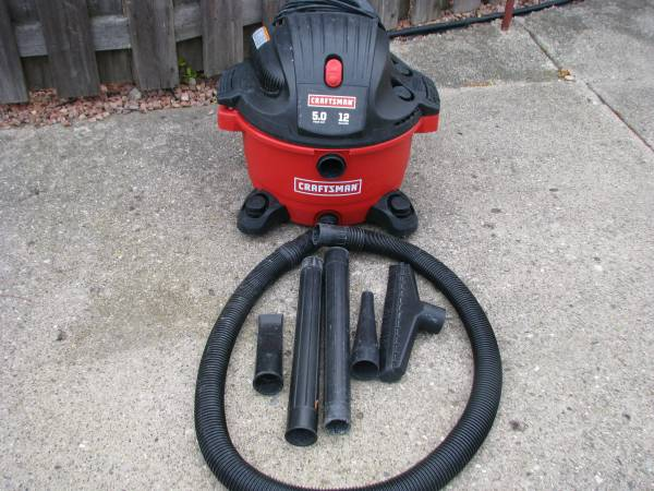 Photo shop vac 12 gallon 5 hp wet  dry craftsman new filter - $50 (roseville)